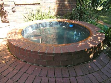 Spa Cover brick spa