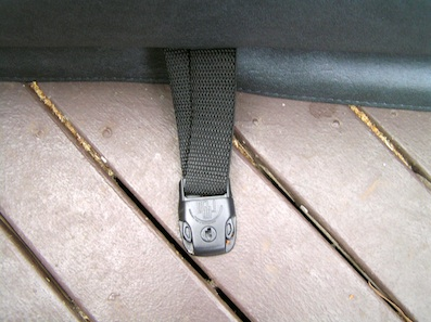 Fitting spa cover locks onto decking